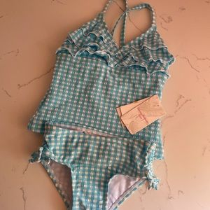 Tommy Bahama Blue Swimsuit Baby Girl NWT